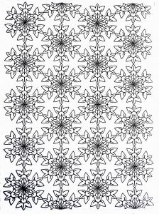 Fleurs et v g tation coloriages difficiles pour adultes page 4 - Coloriage fleur 8 petales ...