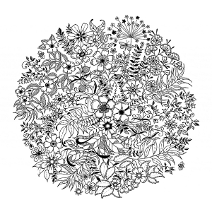 coloring-mandala-flowered free to print