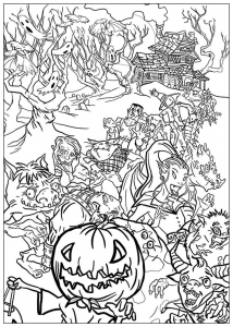 coloriage-halloween-monstres free to print
