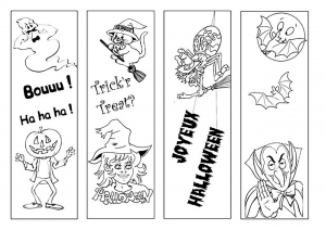 coloriage-halloween-simples-personnages free to print