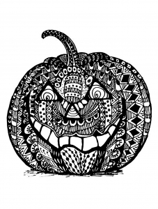 coloriage-halloween-zentangle-citrouille free to print