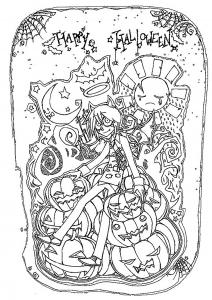 coloriage-joyeuse-fete-d-halloween free to print