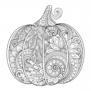 coloriage-magnifique-citrouille-d-halloween-zentangle-irinarivoruchko free to print