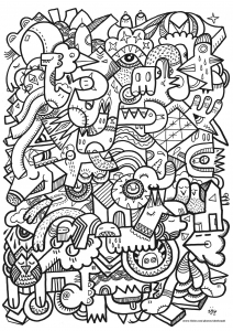 coloriage-complexe free to print