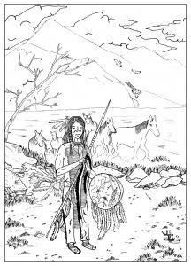 coloriage-adulte-dessin-Ameradien-par-valentin free to print