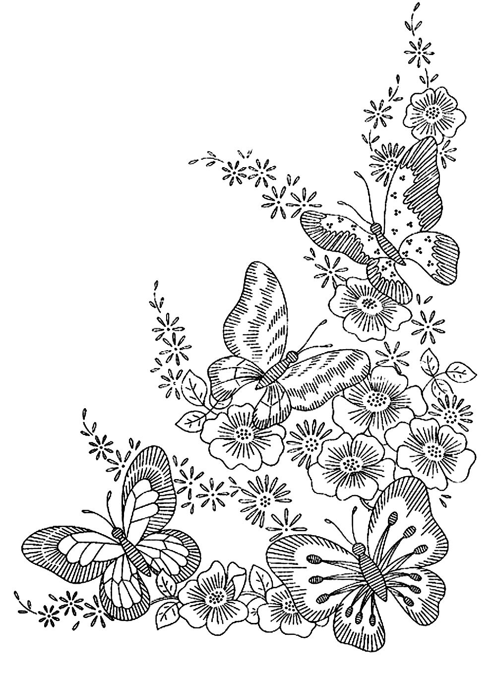 Insectes coloriages difficiles pour adultes coloriage - Coloriage adulte difficile ...