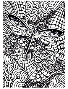 coloriage-adulte-difficile-papillon-15 free to print