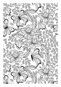 coloriage-adulte-papillons free to print
