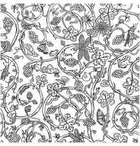 coloriage-papier-peint-insecets-vivienne-westwood free to print