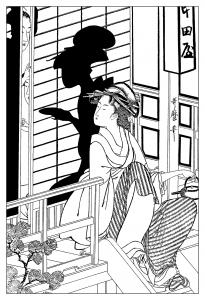coloriage-adulte-dessin-a-partir-de-la-maison-de-the-nakayada-1794 free to print