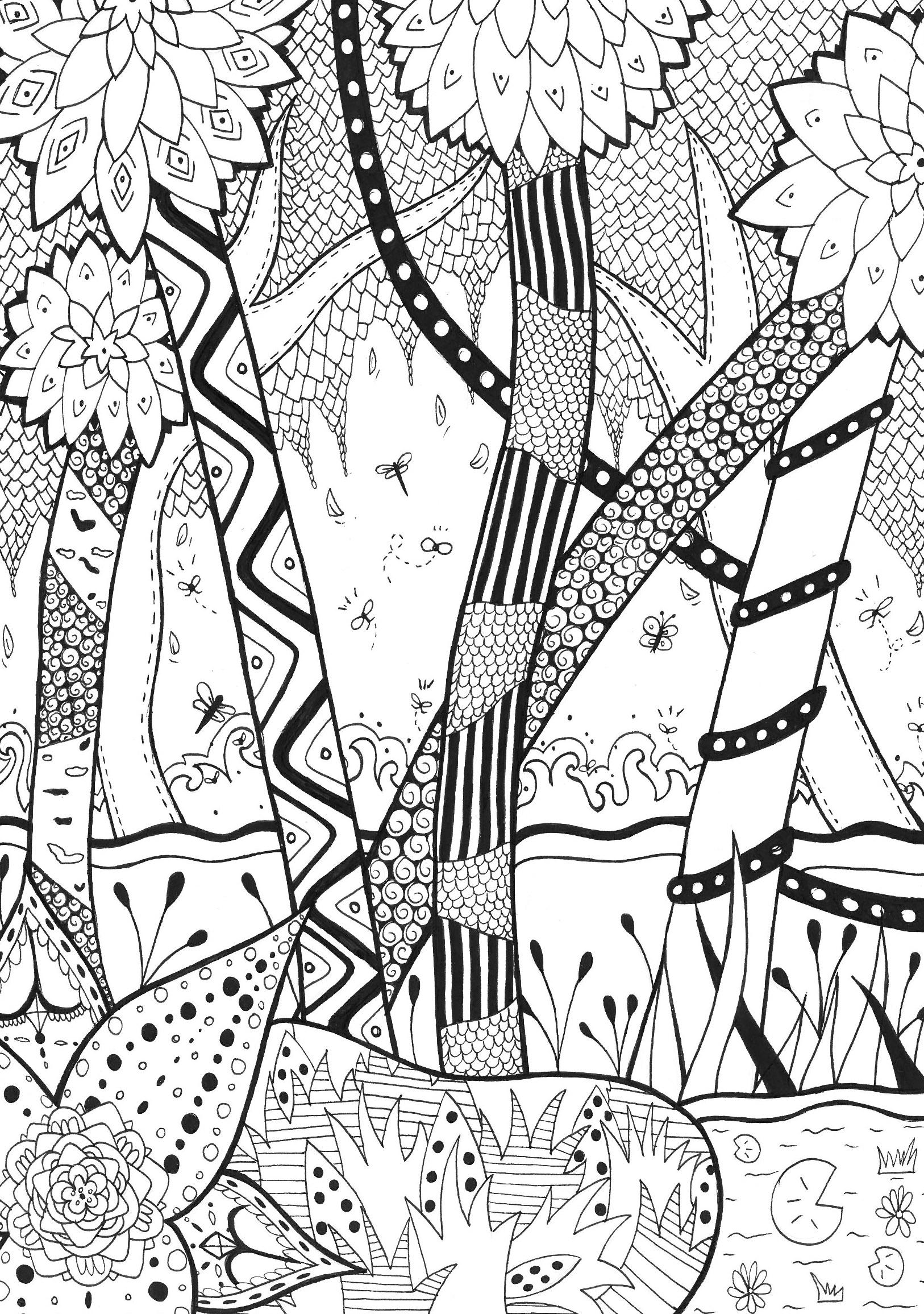 Cette forêt est vraiment incroyable avec toutes ces petites formes.A partir de la galerie : Jungle Et ForetArtiste : Rachel