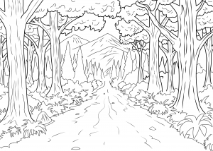 coloriage-adulte-foret-celine free to print