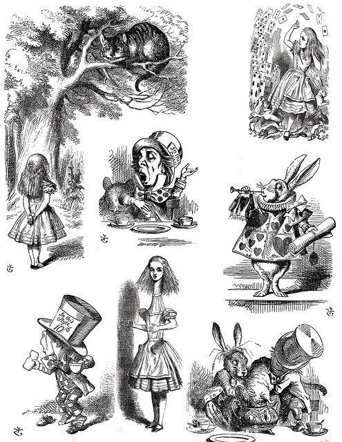 Ancienne illustration issue d'une édition d'Alice au pays des merveillesA partir de la galerie : Livres Et Comics