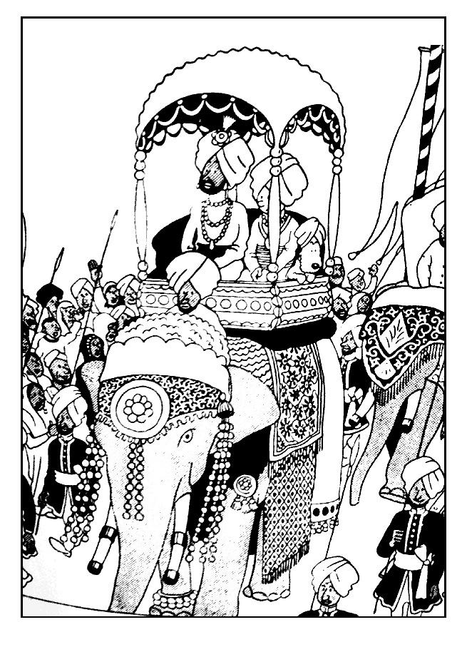 Tintin à dos d'éléphant à colorierA partir de la galerie : Livres Et Comics