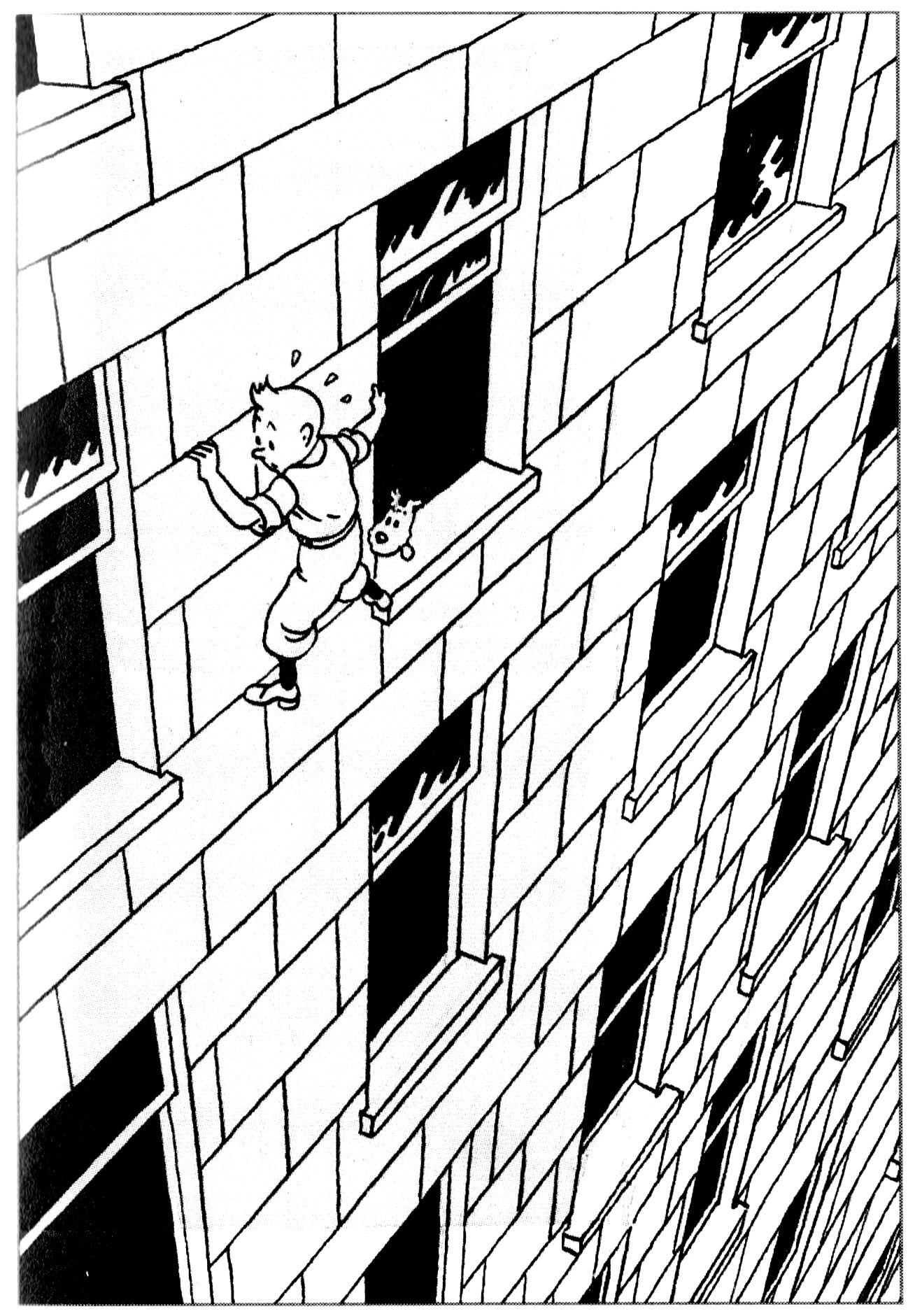 Tintin en Amérique ... et dans une mauvaise situation (dessin d'Hergé de 1932)A partir de la galerie : Livres Et Comics