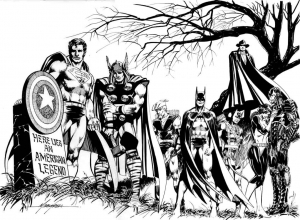 coloriage-adulte-avengers-captain-america free to print