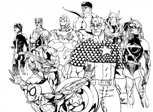coloriage-adulte-avengers free to print