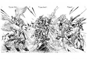 coloriage-adulte-xmen-avengers free to print