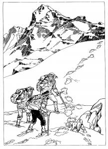 coloriage-dessin-inspire-de-tintin-au-tibet-par-derib free to print