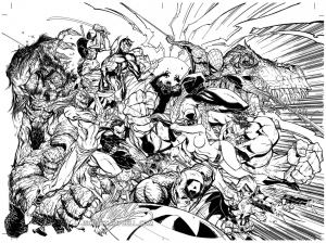 coloriage-difficile-avengers free to print