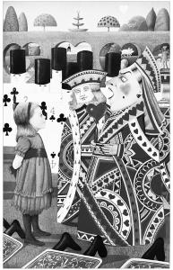 coloriage-pages-alice-au-pays-des-merveilles-ancienne-illustration free to print