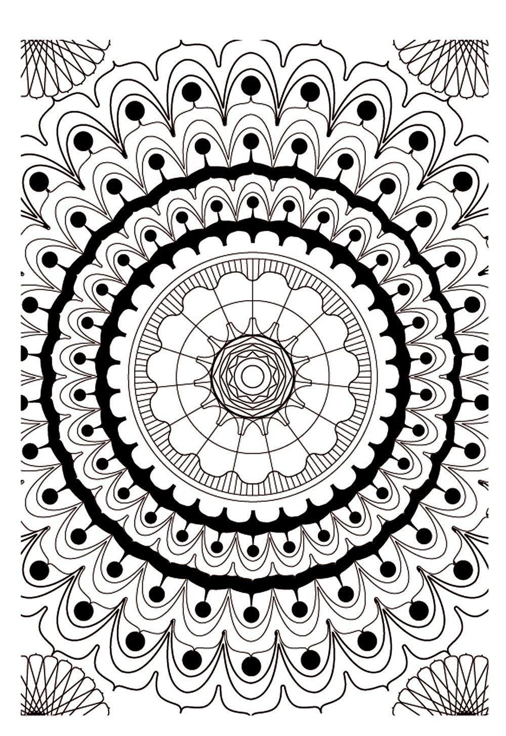Mandalas - Coloriages difficiles pour adultes : coloriage ...