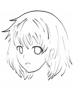 coloriage-visage-manga-par-celine free to print