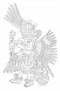 coloriage-adulte-azteque-rachel free to print