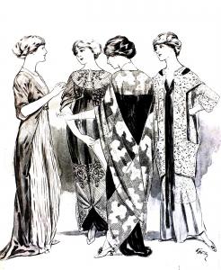 coloriage-adulte-gravure-mode-1915-femina free to print