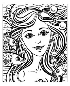 coloriage-adulte-visage-sirene-par-natuskadpi free to print