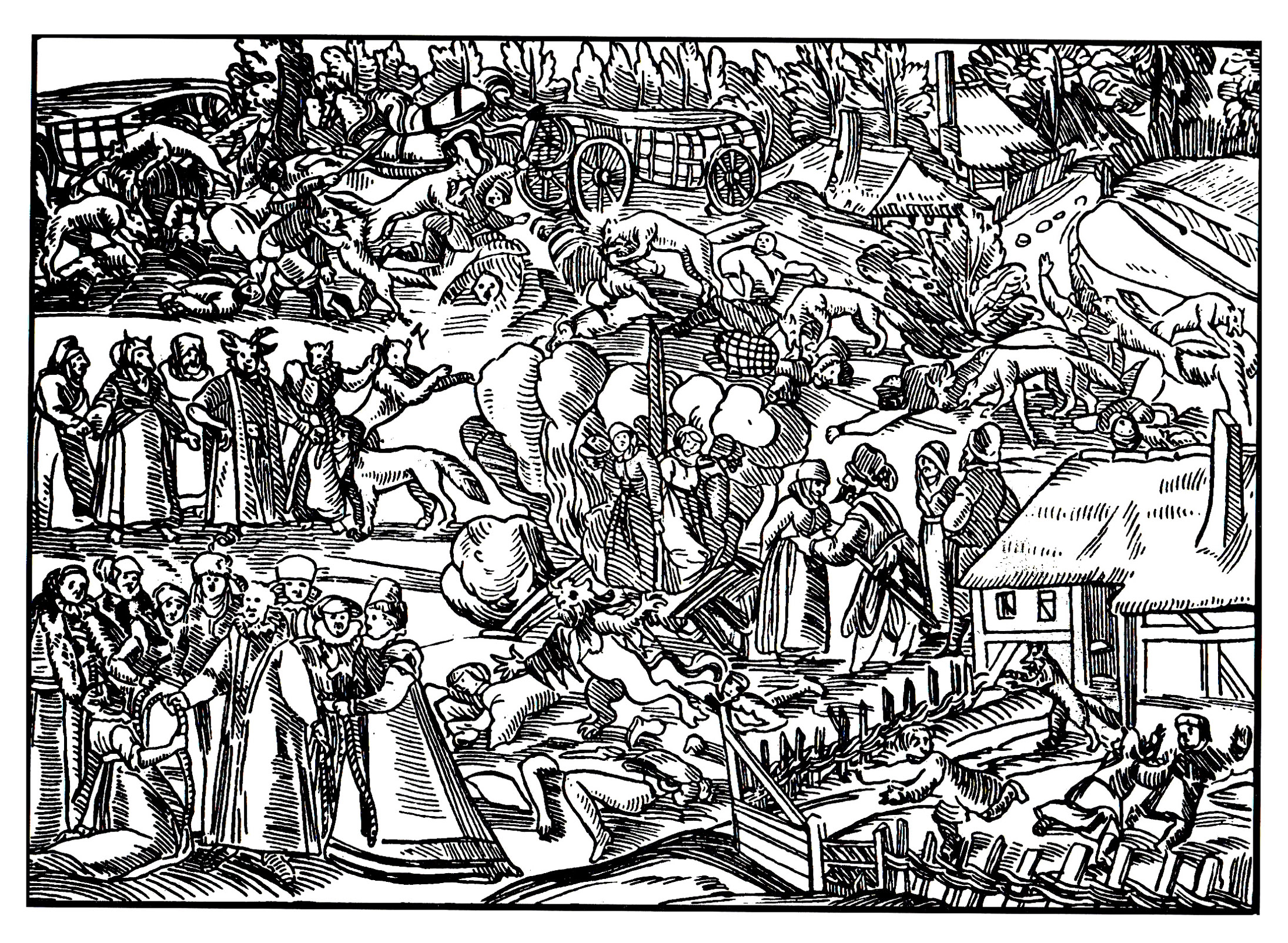 La chasse aux sorcières ... à colorierA partir de la galerie : Moyen Age