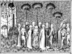 coloriage-adulte-medieval-seigneurs free to print