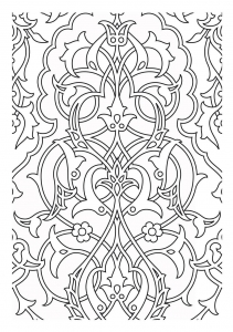 coloriage-motifs-medievaux free to print