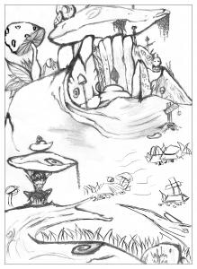 coloriage-adulte-dessin-Maison-de-troll-par-valentin free to print