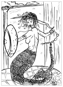 coloriage-adulte-medusa free to print