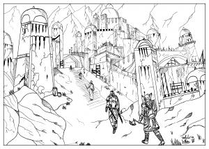 coloriage-adulte-dessin-coloriage-elder-scroll-par-valentin free to print