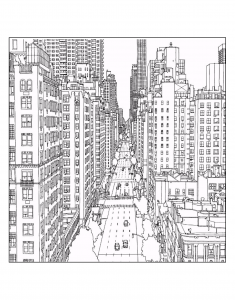 coloriage-adulte-new-york-1st-avenue-and-east-60th-street-in-manhattan-source-steve-mcdonald free to print