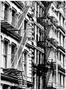 coloriage-les-escaliers-de-china-town-new-york free to print