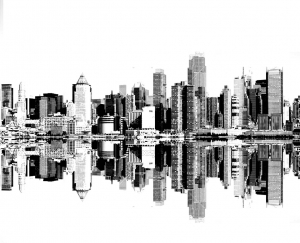 new york city skyline over the hudson river free to print