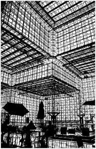 coloriage-ombres-pei-jacob-javits-center-new-york free to print