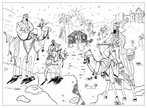 coloriage-adulte-dessin-Roi mage-par-valentin free to print