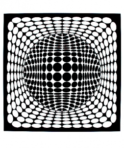 coloriage-op-art-illusion-optique-rond free to print