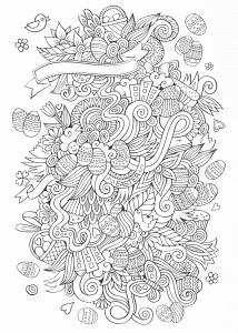 coloriage-paques-dessin-complexe-par-olga-kostenko free to print