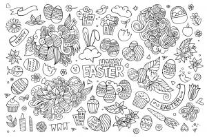coloriage-paques-doodle-par-olga_kostenko free to print