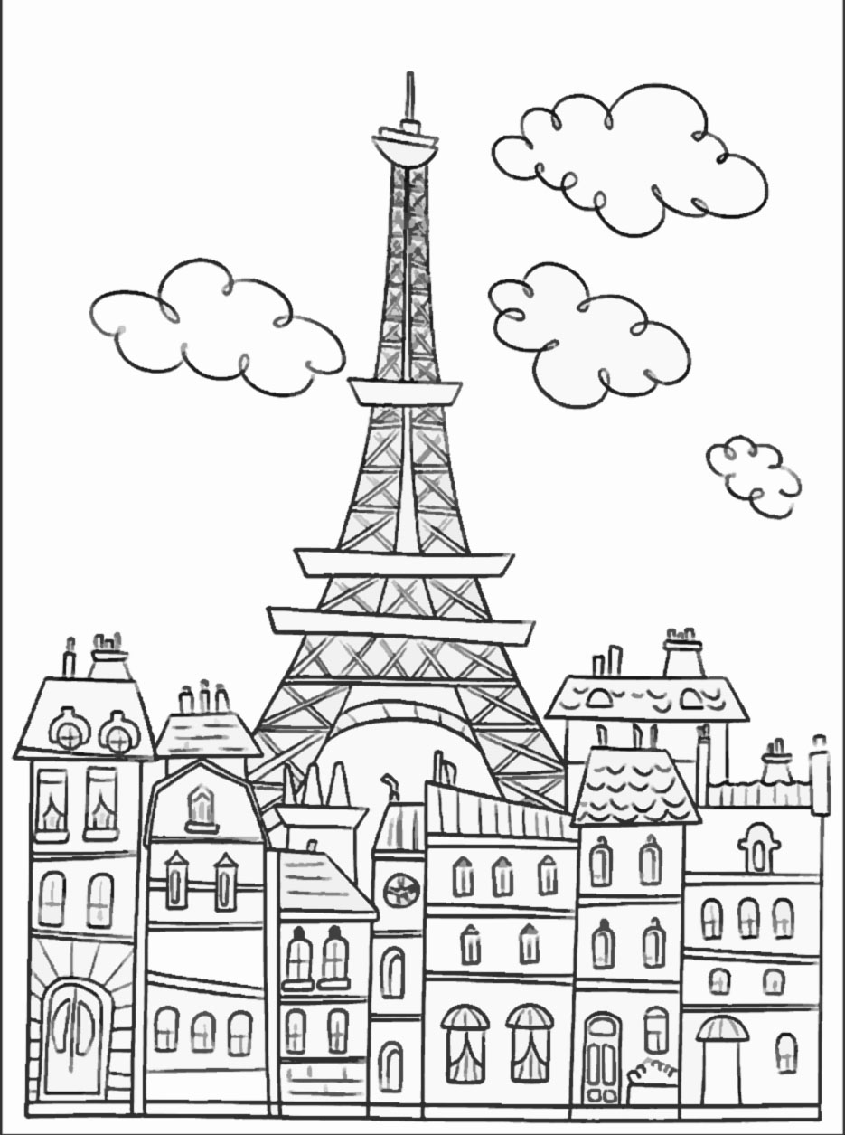Paris coloriages difficiles pour adultes coloriage for American cuisine movie download