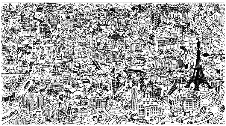Une fresque impressionnante de Paris et de ces monuments... les reconnaîtrez vous tous ?A partir de la galerie : Paris