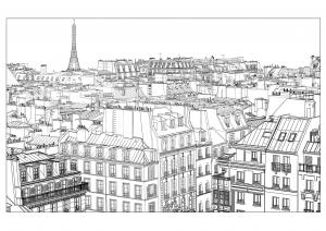coloriage-adulte-paris free to print