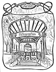 coloriage-paris-entree-station-metro free to print
