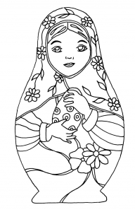 coloriage-pourpee-russe-12 free to print