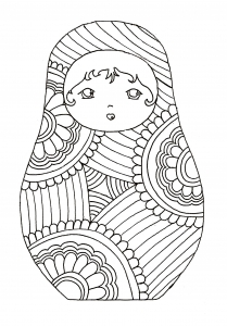coloriage-pourpee-russe-9 free to print